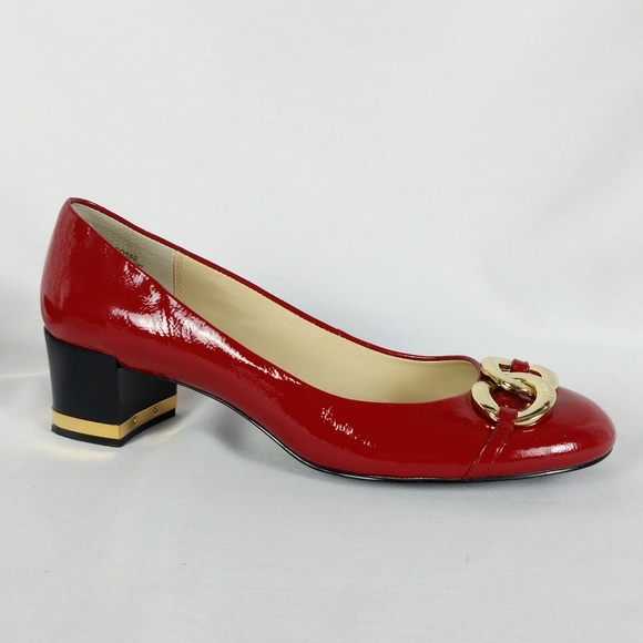 d0d17a65742 Anne Klein Shoes - Anne Klein 10M Red Patent Leather Chain Heels EUC